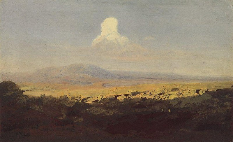 Облако над горной долиной.. Архип Иванович Куинджи
