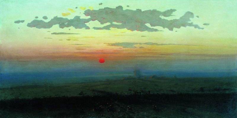 Sunset in the steppes.. Arhip Kuindzhi (Kuindschi)