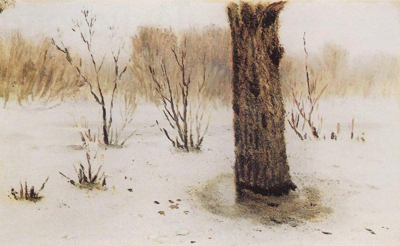Winter. Thaw.. Arhip Kuindzhi (Kuindschi)