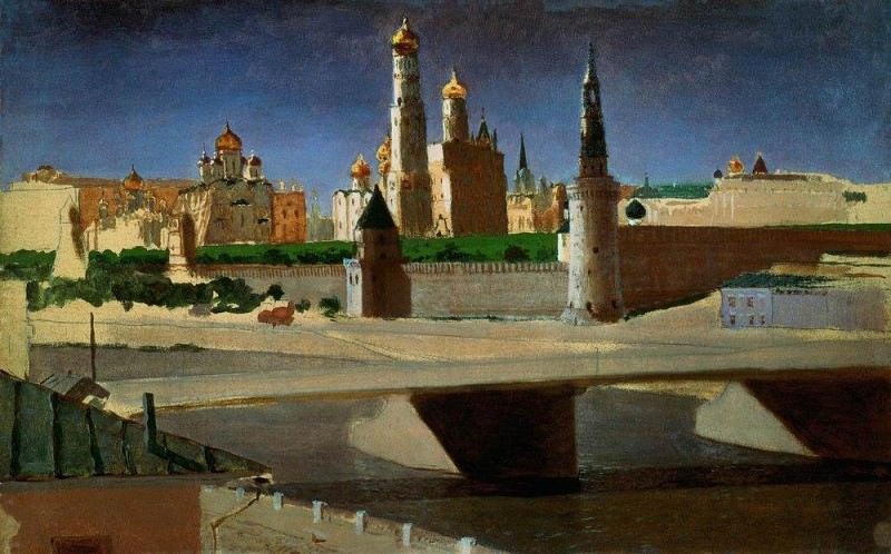 Moscow. View of the Kremlin from the Moskva River.. Arhip Kuindzhi (Kuindschi)
