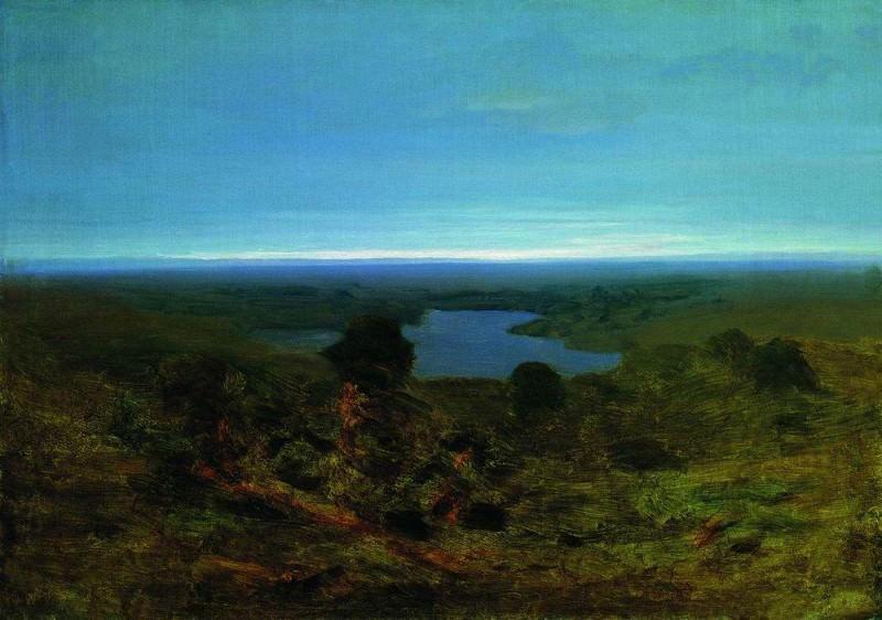 Озеро. Вечер.. Архип Иванович Куинджи