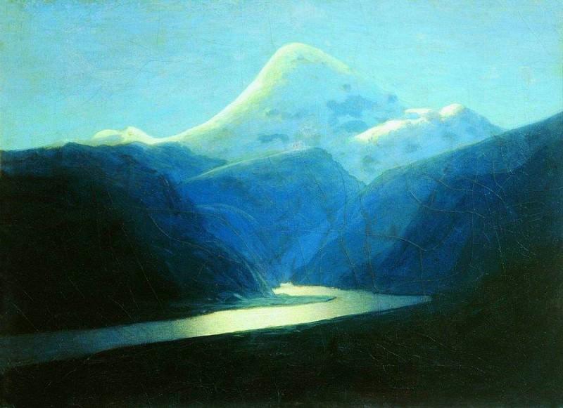 Elbrus vecherom. Arhip Kuindzhi (Kuindschi)