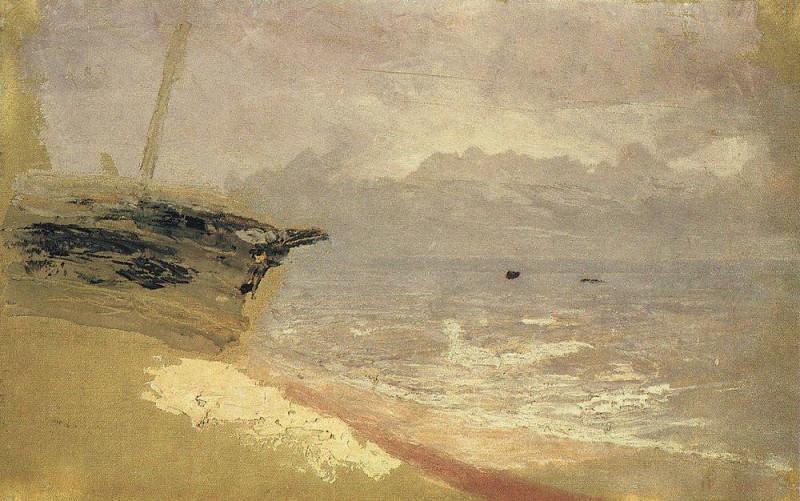 Sea. Gray day. Mariupol.. Arhip Kuindzhi (Kuindschi)