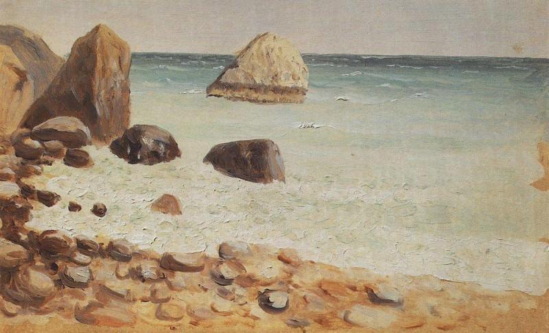 rocky coast. Crimea. Arhip Kuindzhi (Kuindschi)