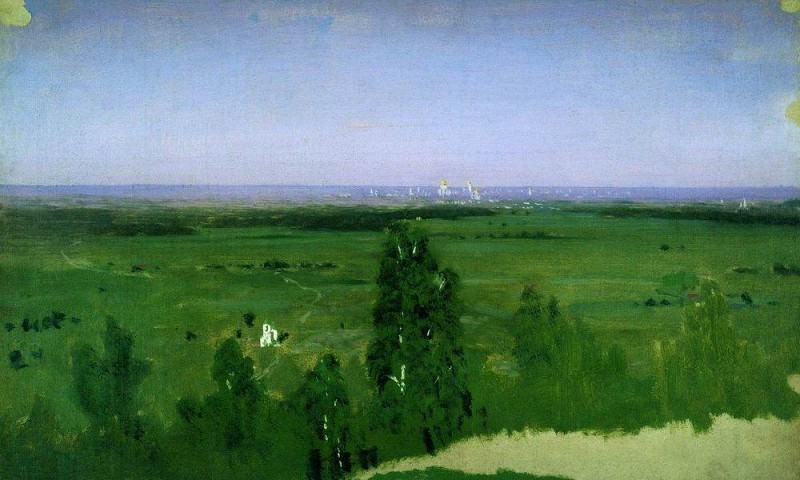 View on Moscow from Sparrow Hills.. Arhip Kuindzhi (Kuindschi)