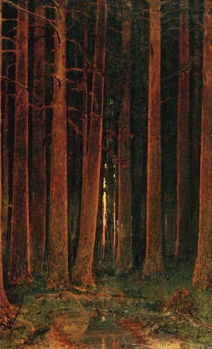 Sunset in the forest.. Arhip Kuindzhi (Kuindschi)
