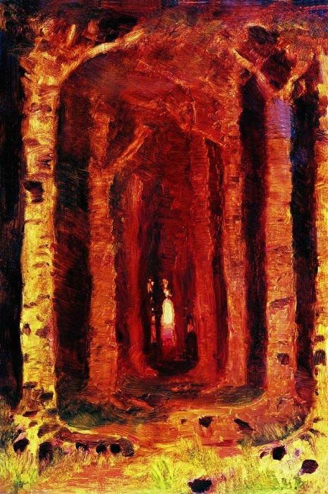 Закат в лесу. Архип Иванович Куинджи