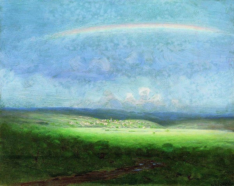 After a rain. Rainbow. Arhip Kuindzhi (Kuindschi)