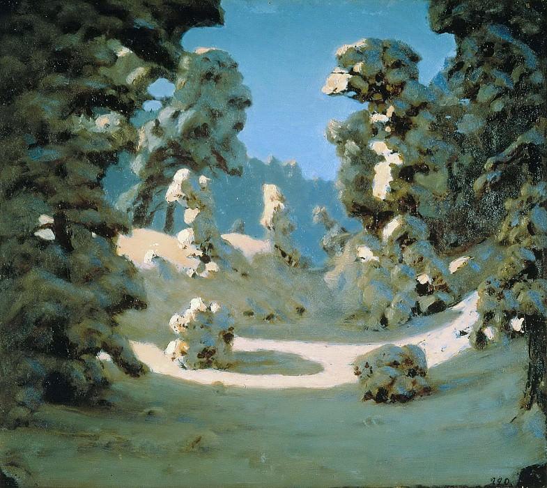 Sun in Wintery Forest. Arhip Kuindzhi (Kuindschi)