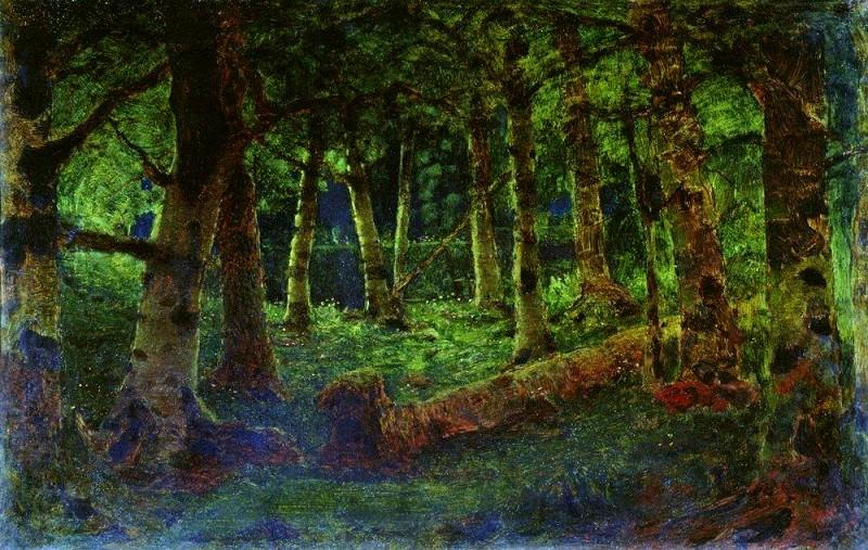 Birch Forest (Forest). Arhip Kuindzhi (Kuindschi)