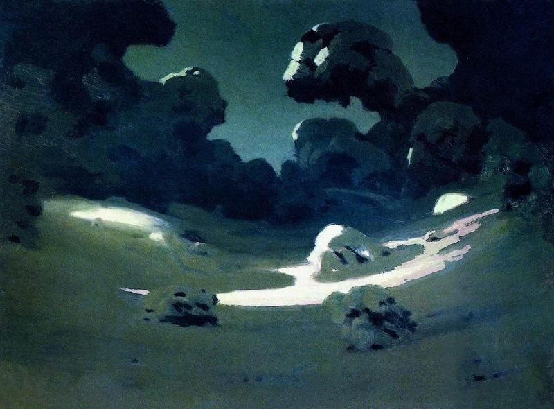 Spots moonlight in the woods. Winter.. Arhip Kuindzhi (Kuindschi)