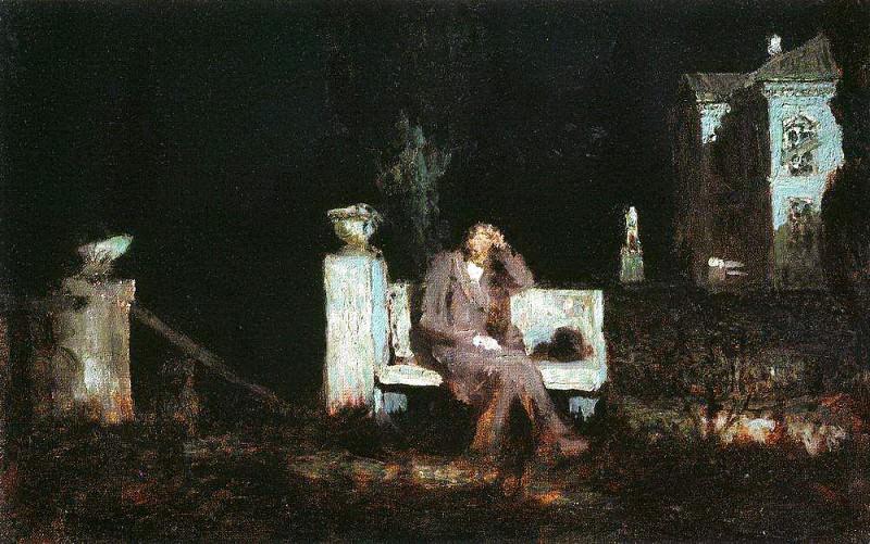 Moonlit Night. Meditation.. Arhip Kuindzhi (Kuindschi)