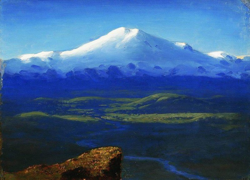 snowy peaks.. Arhip Kuindzhi (Kuindschi)