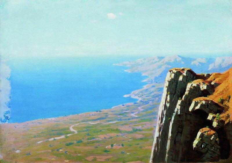 Берег моря со скалой.. Архип Иванович Куинджи