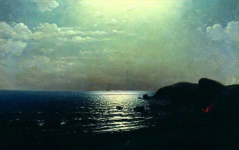 Fishing on the Black Sea.. Arhip Kuindzhi (Kuindschi)