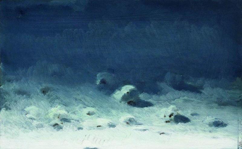 Moonlit Night. Winter. Arhip Kuindzhi (Kuindschi)