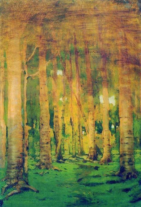 Birchwood. Spots of sunlight.. Arhip Kuindzhi (Kuindschi)