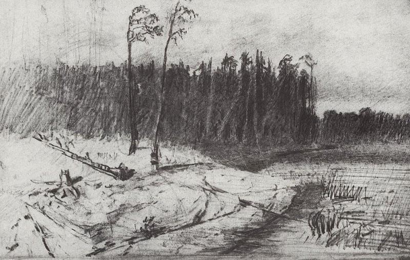 Forest near the water.. Arhip Kuindzhi (Kuindschi)