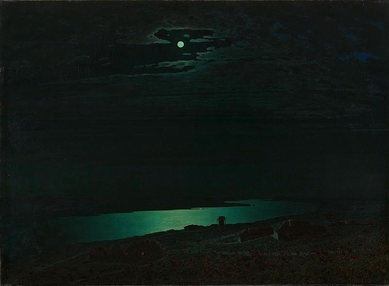 Moonlit Night on the Dnieper. Arhip Kuindzhi (Kuindschi)