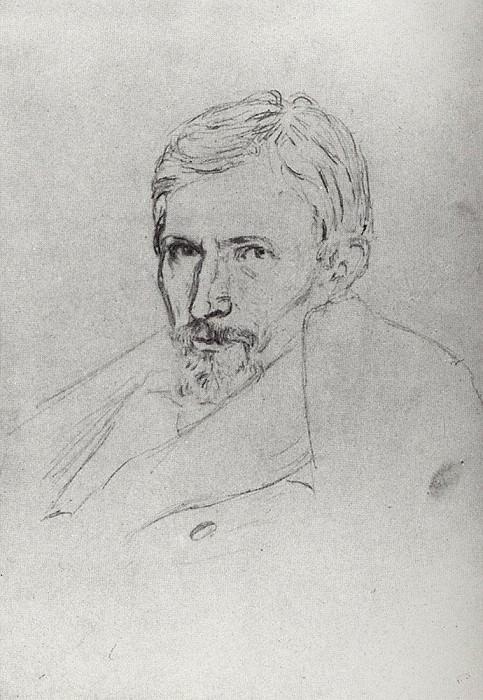 Portrait of Victor Vasnetsov. Arhip Kuindzhi (Kuindschi)