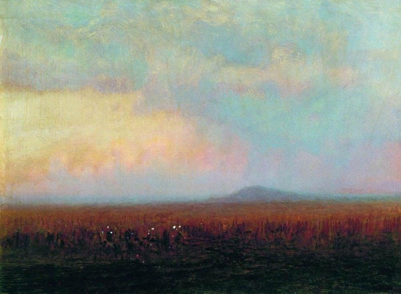 Twilight in the steppe.. Arhip Kuindzhi (Kuindschi)