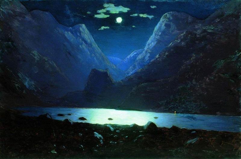 Darial Gorge. Moonlit Night.. Arhip Kuindzhi (Kuindschi)