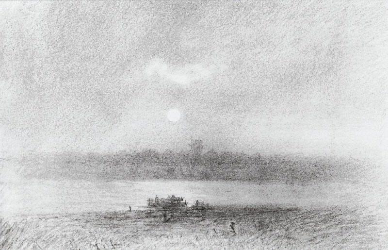 Moonlit Night on the River. Arhip Kuindzhi (Kuindschi)