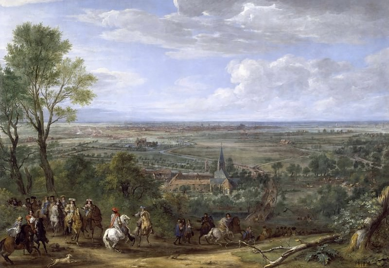 Adam Frans van der Meulen -- Vue de la ville de Lille assiégée, prise du côté du Prieuré de Fives, août 1667. Château de Versailles