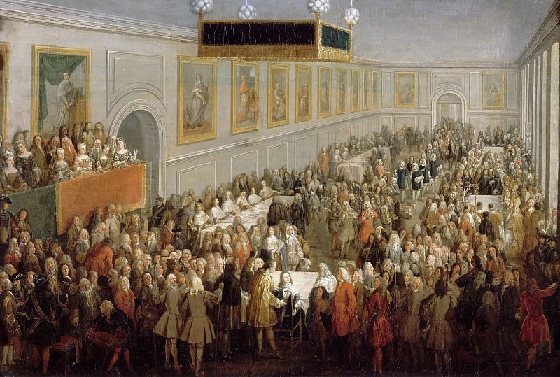Attributed Pierre-Denis Martin -- Coronation banquet of Louis XV at Reims, 25 October 1722. Château de Versailles