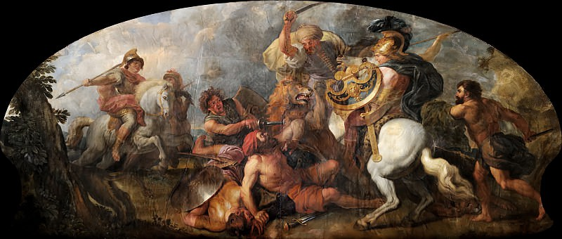 Charles de la Fosse -- Alexander the Great hunting Lions. Château de Versailles