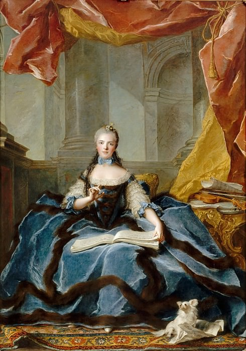 Jean-Marc Nattier -- Marie-Adelaide of France, called Madame Adelaide (1732-1799). Château de Versailles