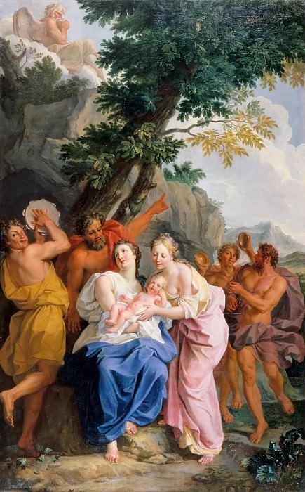 Ноэль Куапель -- Младенец Юпитер среди корибантов. Версальский дворец