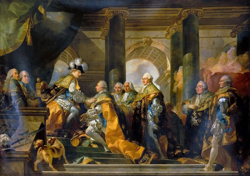 Gabriel François Doyen -- Louis XVI received at Reims the homage of the Knights of Saint-Esprit, 13 June 1775. Château de Versailles