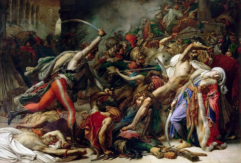 Anne-Louis Girodet de Roucy-Trioson -- Revolt in Cairo on October 21, 1798. Château de Versailles