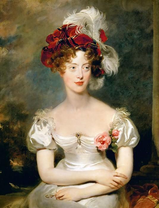 Лоуренс, Томас - Портрет Марии Каролины де Бурбон-Сисиль, герцогини де Берри. Версальский дворец