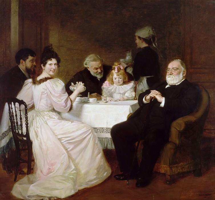 Марсель-Андре Баске -- Семейная встреча у мадам Бриссон. Версальский дворец