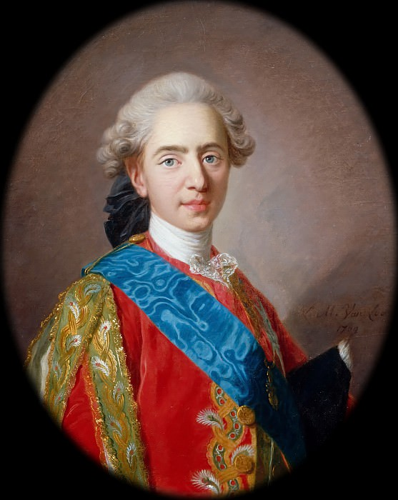 Louis Michel van Loo -- Louis-Auguste, Duke of Berry (1754-1793). Château de Versailles