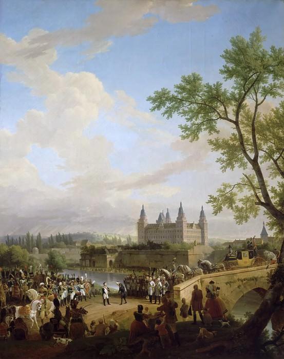 Entrevue de Napoléon et du baron de Dalberg à Aschaffenbourg, 2 octobre 1806 -- Debret, Jean-Baptiste. Château de Versailles