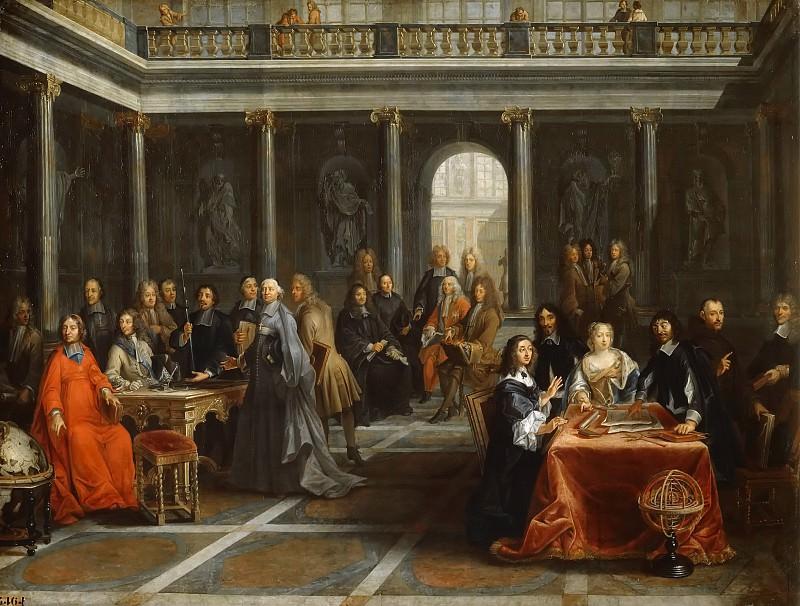 Луи-Мишель Дюмениль -- Кристина Шведская и ее двор, 97х126. Версальский дворец