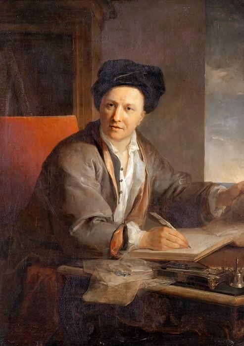 Louis Galloche -- Portrait of the Writer Bernard Le Bovier de Fontenelle. Château de Versailles