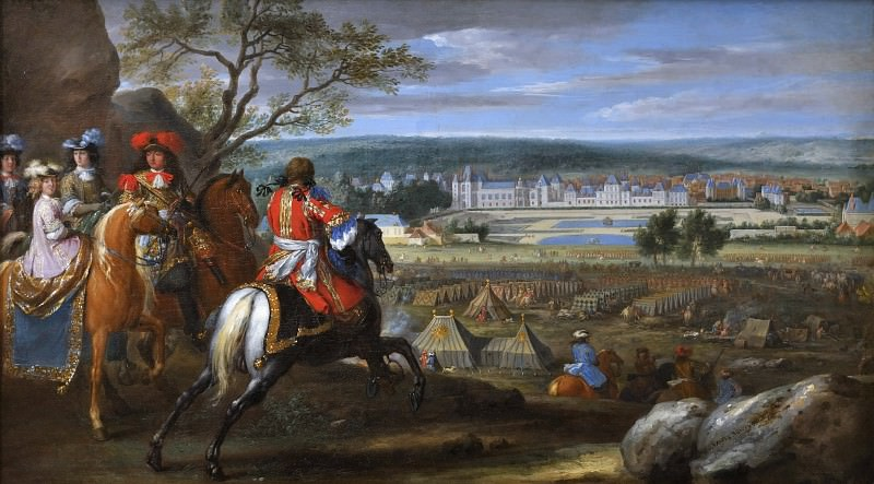 Van der Meulen, Adam-Frans -- Vue du château de Fontainebleau du côté des parterres en 1669. Château de Versailles