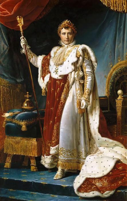 Baron François Gérard -- Napoleon I in Coronation Robe. Château de Versailles