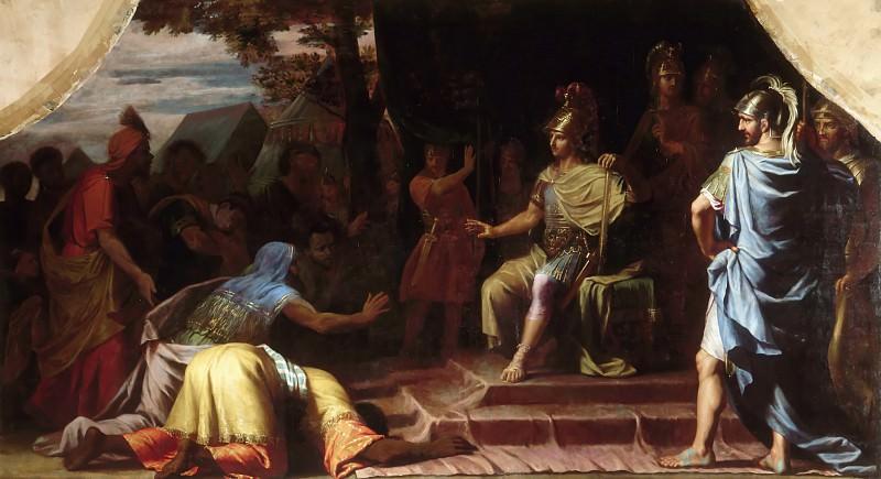 Жан-Батист Шампень -- Александр Макдонский получает весть о самосожжении софиста Калануса. Версальский дворец
