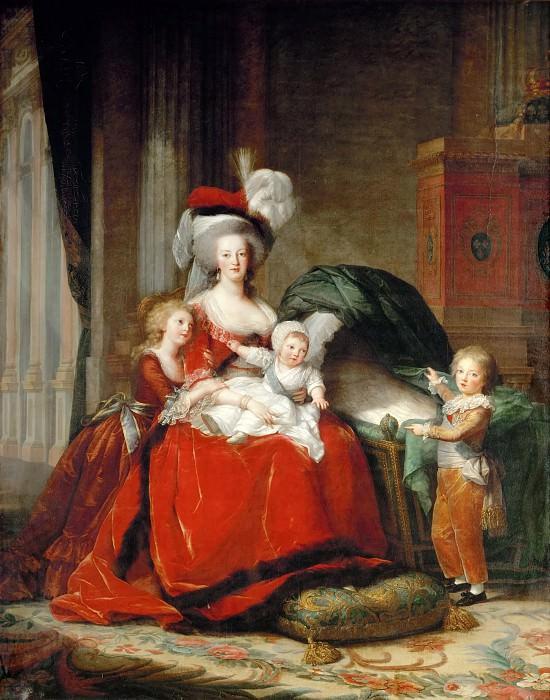 Elisabeth-Louise Vigee-Le Brun -- Queen Marie-Antoinette and her Children. Château de Versailles