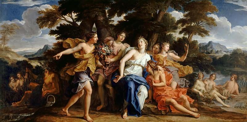 Noël Coypel -- Nymphs presenting a cornucopia to Amalthea. Château de Versailles