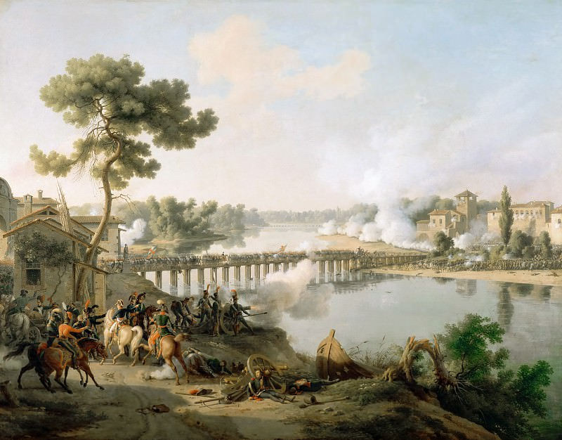 Louis Francois Lejeune -- Battle of Lodi, 10 May 1796. Château de Versailles