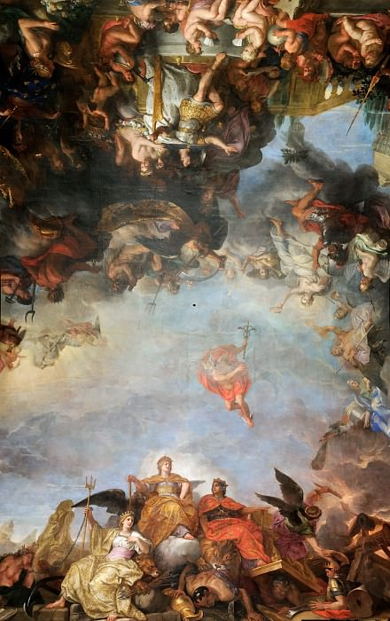 Charles Le Brun -- The King governs by himself. Château de Versailles
