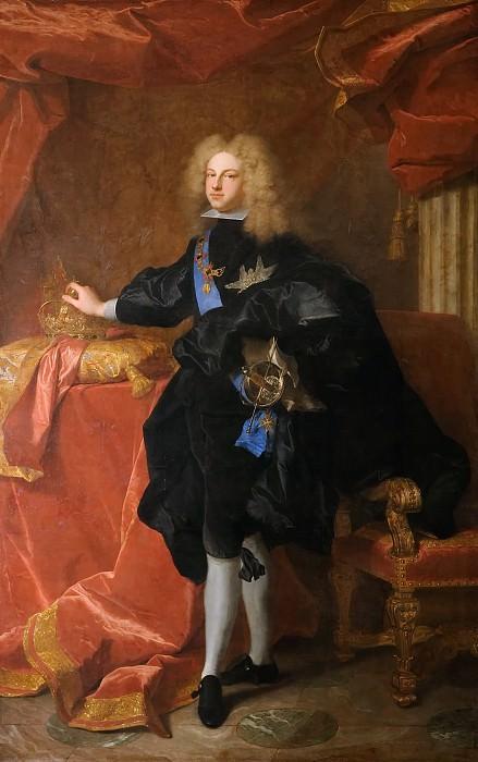 Иасент Риго -- Филипп V (1683-1746), Испанский король. Версальский дворец