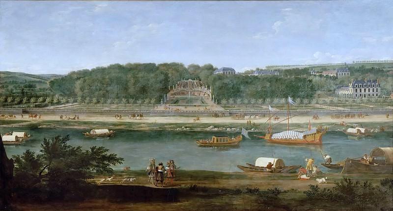 Adam Frans van der Meulen -- View of the park and chateau at Saint-Cloud. Château de Versailles