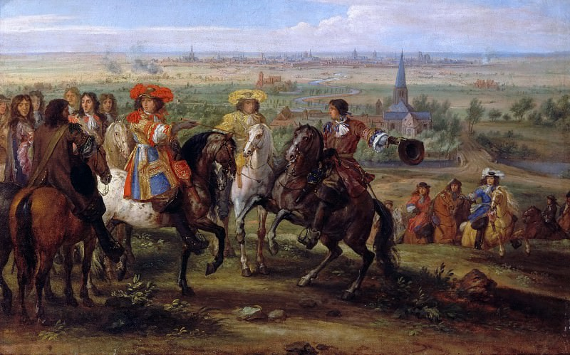Adam Frans van der Meulen -- Louis XIV at the Siege of Lille, August 1667. Château de Versailles